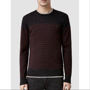 NWOT All Saints Men's Keel Merino Wool Sweater